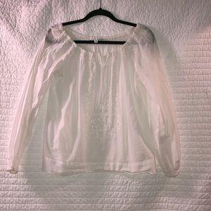 White beachy tunic
